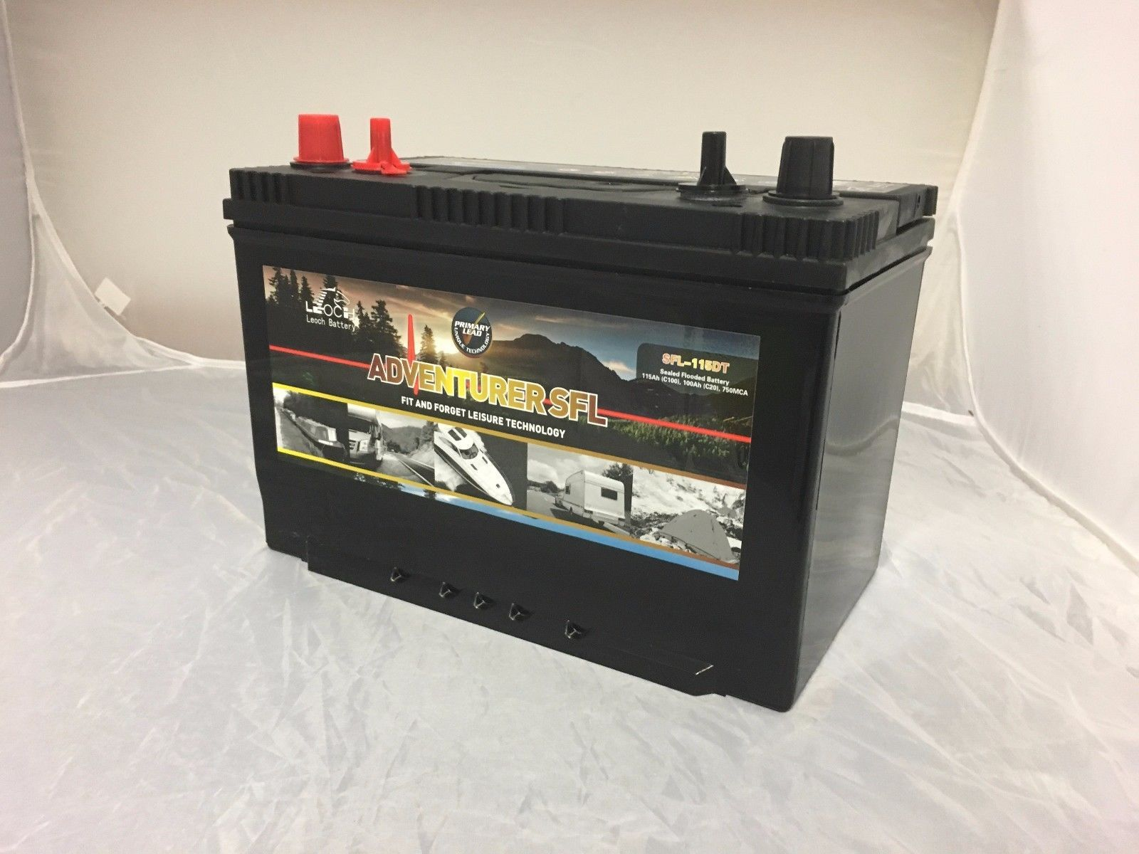 Leoch Sfl 115dt 12v 115amp Electric Fence Battery With