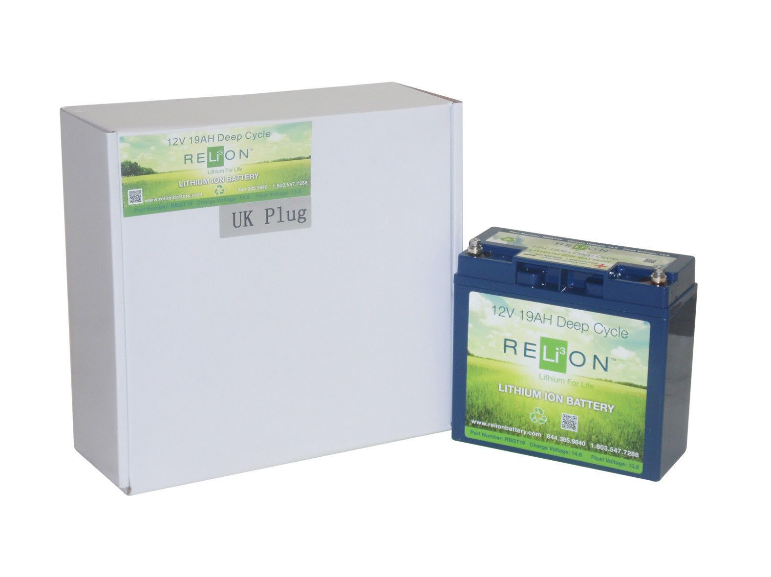 RELiON 19Ah LITHIUM GOLF BATTERY, Anderson Terminal - POWAKADDY 6 YEAR  WARRANTY